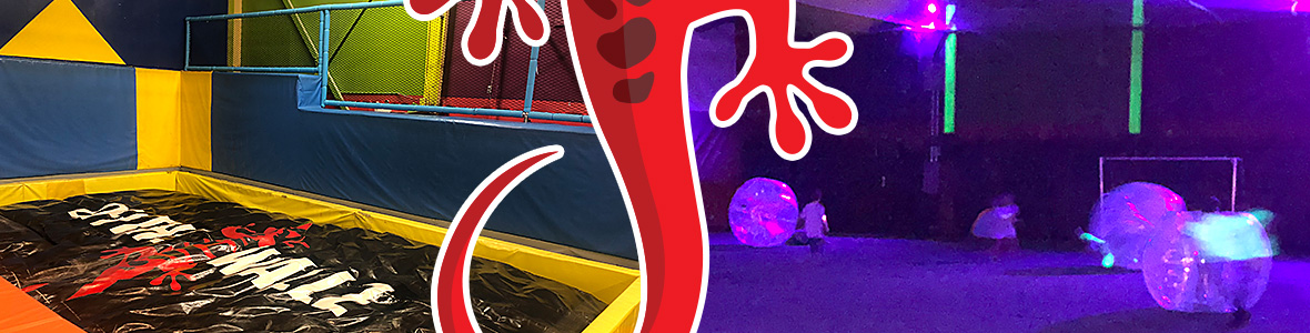 Soft play area and blacklight inflatables